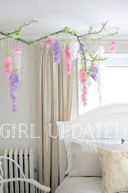 Paper Flower Branches Hanging Paper Wisteria Tutorial Templates Catching Colorflies