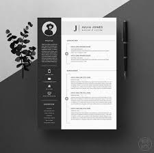 Resume Template / CV Template + Cover Letter for Word + Icons ( 3 page pack