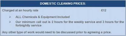 Domestic Cleaning Price List Price List Adept Cleaning Solutions