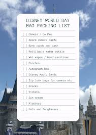 Ultimate Holiday Packing Essentials List For Walt Disney