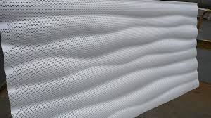 perforated metal sheet corrugated aluminum for facade cladding