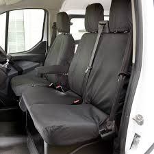 ford transit custom tailored front seat covers black 2016 onwards