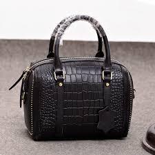 women s leather top handle bags 2018 new fashion las alligator embossed leather handbag crocodile tote bags item no mw 8215