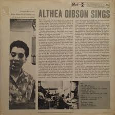 Image result for Althea Gibson, singing