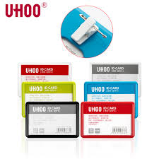 Work Identity Card Uhoo 6639 Name Tag Work Id Card With Pin Clips Name Plate Business