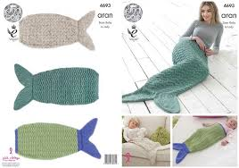 Mermaid Tail Blanket Knitting Pattern Gorgeous King Cole Aran Mermaid Blankets Knitting Pattern 48