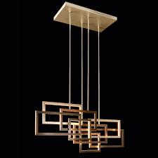 italian designer geometric modern horizontal chandelier