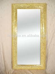 mirror gold frame. bisini brand handmade decorated mirrors, rectangle crackle design glass mosaic wall mirror, gold frame mirror c