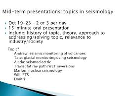 seismic methods geoph erb lecture sept ppt mid term presentations topics in seismology