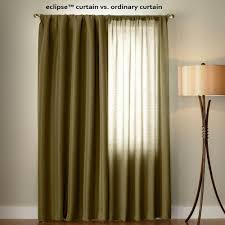 eclipse microfiber blackout navy grommet curtain panel 95 in length