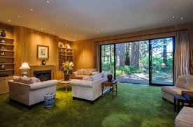 view in gallery elegant modern home with large sliding glass doors and curtains that can simply slide over to