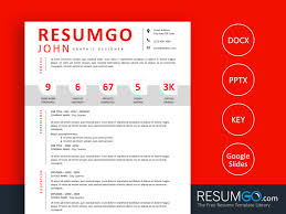 Paris Modern Resume Template With Numbers Resumgocom