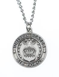 jeweled cross sterling silver air force st michael archangel medal