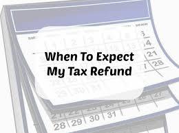 Refund Schedule Chart When To Expect My Tax Refund The 2018 2019 Refund Calendar