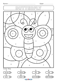 The most common color by numbers material is cotton. Free Color By Number Worksheets Cool2bkids