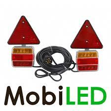 Aanhanger Magneet Achterlicht Set 75m Kabel 7 Polige Stekker