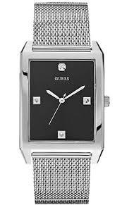 guess diamond stainless steel mesh watch u0279g1 men s guess diamond stainless steel mesh watch u0279g1