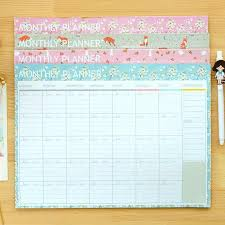 Flower Cartoon Fox Rabbit Monthly Organiser Planner Desk Table Business Schedule To Do List For College And Office 21cm X 28 5cm