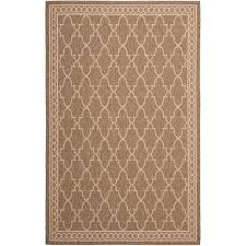 safavieh courtyard dark beige indoor outdoor rug 9 x 12