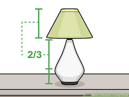 How To Measure Lamp Shade Magnificent 32 Ways to Measure a Lamp Shade wikiHow
