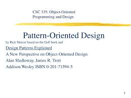 Pattern Oriented Design Pattern Oriented Design Ppt Download