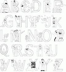Each of these preschool alphabet printables: A Z Alphabet Coloring Pages Download And Print For Free Coloring Home