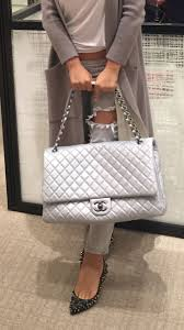 chanel xxl travel flap bag. chanel xxl flap travel bag, silver. $5200 handbags wallets - amzn.to/2ha3mfe clothing, shoes \u0026 jewelry women\u0027s http://amzn.t\u2026 xxl bag