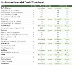 bathroom remodel estimate remodeling cost estimator excel awesome bathroom remodel estimate