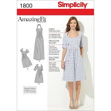 Simplicity Patterns Stunning Amazon Simplicity Amazing Fit Pattern 48 Misses Dress In 48