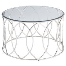 silver and glass end tables elana stainless steel round coffee table pier 1 imports 2989