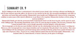 the scarlet letter summary chapter 13 16 the scarlet letter
