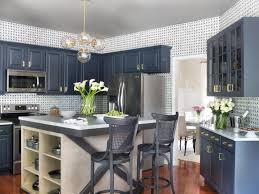 Blue Painted Kitchen Cabinets Pleasing Blue Kitchen Cabinets Within Photos Hgtv Home Design Ideas