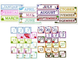 Calendar Numbers For Pocket Chart Gingham Calendar Day Month Printables Confessions Of A