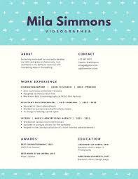 Aqua and Cream Simple Creative Resume