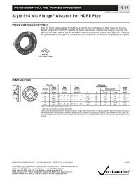 Style 994 Vic Flange Adapter For Hdpe Pipe Lee Supply