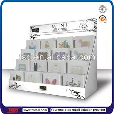 Wooden Greeting Card Display Stand acrylic greeting card stands tsd a100 hot sale 100 tiers acrylic 36