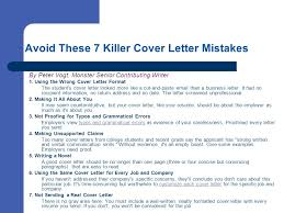 Avoid These 7 Killer Cover Letter Mistakes
