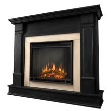 electric fireplace in black