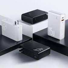 Củ sạc nhanh kiêm sạc pin dự phòng (GaN) Sạc Dự Phòng & Sạc Nhanh 2 Trong 1  C + U 10000MAh 45W cho điện thoại máy tính bảng Laptop
