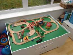 train tables with storage decor idea plus greatest wooden train table set fresh first learning super
