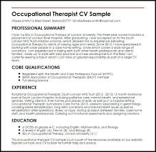 Sample Resume For Occupational Therapist Best Of Sample Resume For Occupational Therapist Occupational Therapist