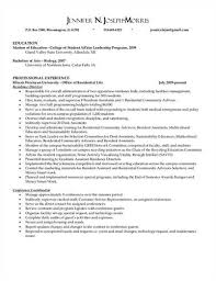 Ra Resume Resident Assistant Resume New Resident Assistant Resume