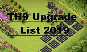 Clash Of Clans Level Up Chart Clash Of Clans Th9 Upgrade Priority 2019 Upgrade Order For