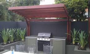 pergola kitchen. cantilevered pergola for outdoor kitchen and bbq area