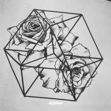 фото эскизы цветочная геометрия в стиле авторский графика дотворк