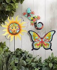 colorful erfly metal outdoor wall decor southwestern gecko lizard garden art
