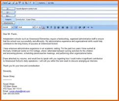 Simple Email Cover Letter For Resume Eursto Com