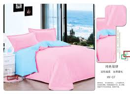 plain light pink light blue duvet covers bedding set single double king b04