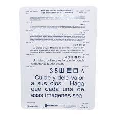Near Eye Chart Spanish Near Vision Test Card Eye Cards Eye Charts