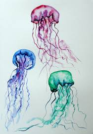 jelly fish watercolor 2 by lunicqa jelly fish watercolor 2 by lunicqa